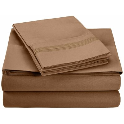 Garrick Microfiber Sheet Set Color: Taupe, Size: King