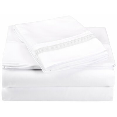 Garrick Microfiber Sheet Set Size: California King, Color: White