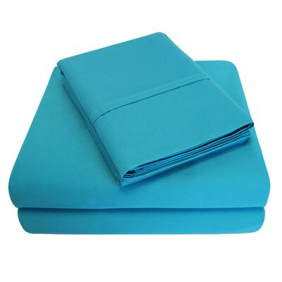 6 Piece 1000 Thread Count 100% Cotton Sheet Set Size: King, Color: Teal