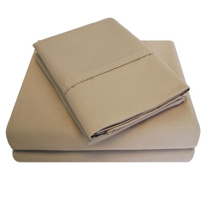 6 Piece 1000 Thread Count 100% Cotton Sheet Set Size: California King, Color: Taupe