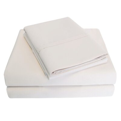 6 Piece 1000 Thread Count 100% Cotton Sheet Set Color: Ivory, Size: Queen