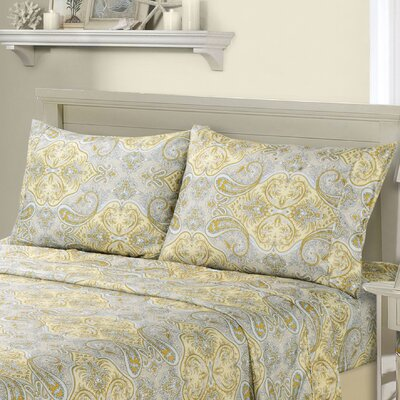 1800 Series Collection Paisley Pillowcase Size: Standard