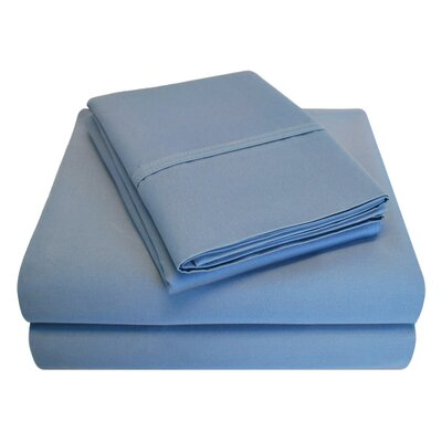 6 Piece 1000 Thread Count 100% Cotton Sheet Set Size: King, Color: Medium Blue