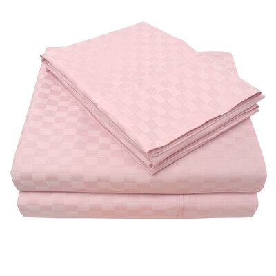 4 Piece 300 Thread Count 100% Cotton Sheet Set Color: Orchid, Size: Queen