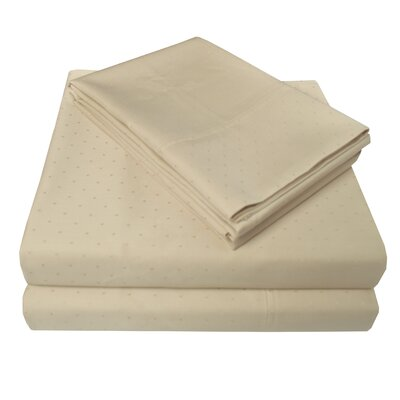 4 Piece 400 Thread Count 100% Cotton Sheet Set Size: Full, Color: Beige