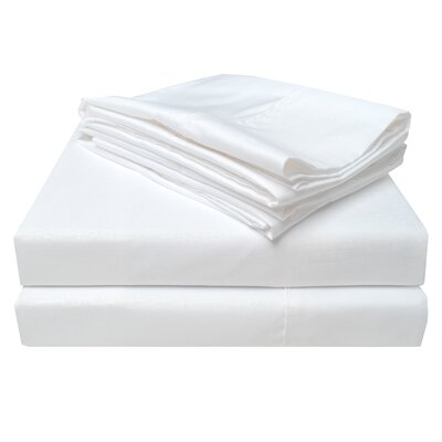 3000 Crocodile Embossed Microfiber Sheet Set Size: California King, Color: White
