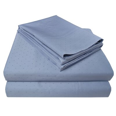 4 Piece 400 Thread Count 100% Cotton Sheet Set Color: Denim, Size: King