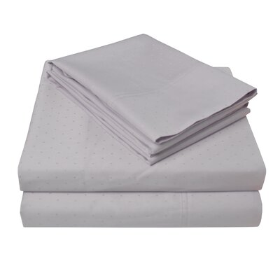 4 Piece 400 Thread Count 100% Cotton Sheet Set Color: Lilac, Size: California King