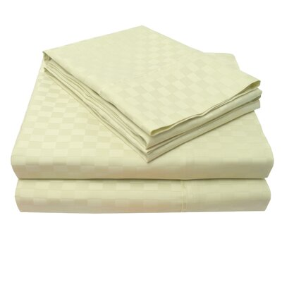 4 Piece 300 Thread Count 100% Cotton Sheet Set Color: Sage, Size: Queen