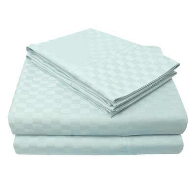 4 Piece 300 Thread Count 100% Cotton Sheet Set Size: California King, Color: Light Blue