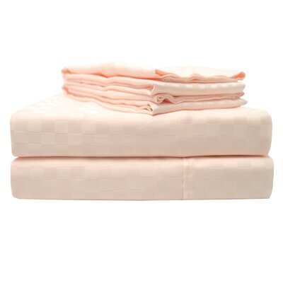 4 Piece 300 Thread Count 100% Cotton Sheet Set Size: Queen, Color: Pink