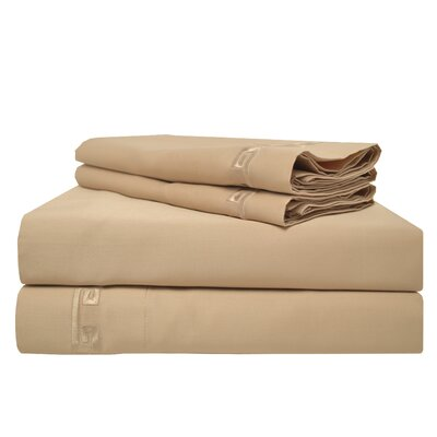 Premium 600 Thread Count Egyptian Quality Cotton Sheet Set Color: Beige, Size: King