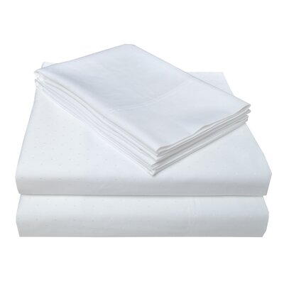 4 Piece 400 Thread Count 100% Cotton Sheet Set Size: California King, Color: White