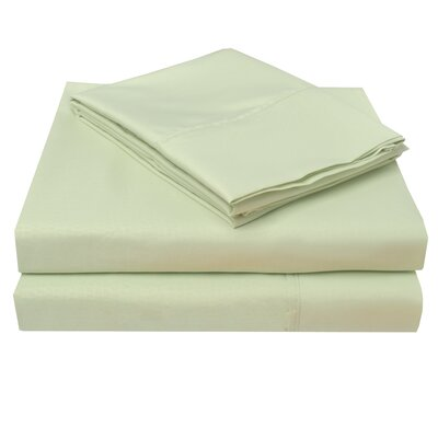 3000 Crocodile Embossed Microfiber Sheet Set Color: Sage, Size: Queen