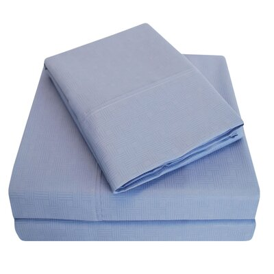 Embossed Microfiber Sheet Set Color: Periwinkle, Size: California King