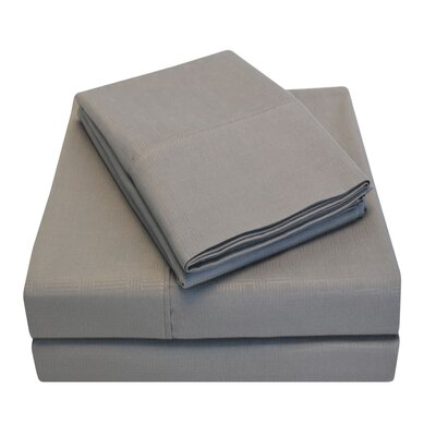 Embossed Microfiber Sheet Set Color: Platinum, Size: California King