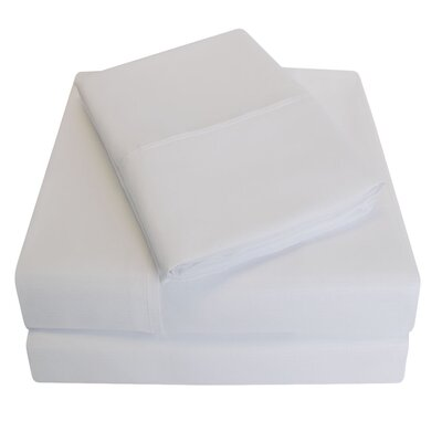 Embossed Microfiber Sheet Set Size: King, Color: White