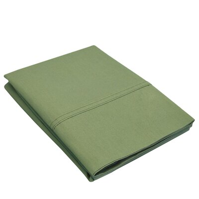 Eliot Percale Cotton 300 Thread Count Solid Pillowcase Size: Standard, Color: Sage