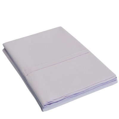 Eliot Percale Cotton 300 Thread Count Solid Pillowcase Size: Standard, Color: Lilac