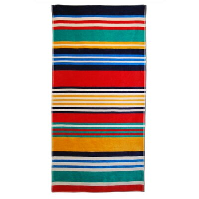 Striped Beach Towel Color: Multi