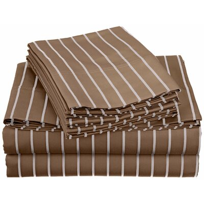 Bahama 600 Thread Count Sheet Set Color: Taupe, Size: Extra-Long Twin