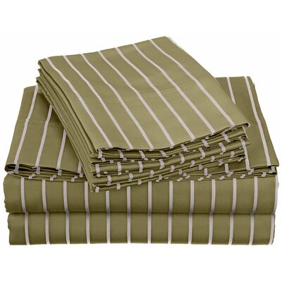 Bahama 600 Thread Count Sheet Set Color: Sage, Size: Queen