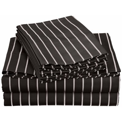 Bahama 600 Thread Count Sheet Set Color: Black, Size: Full