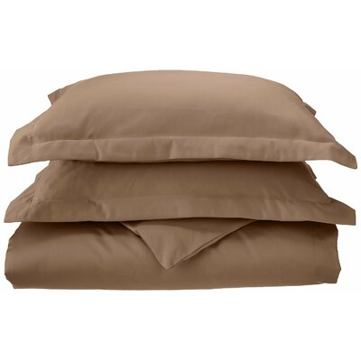 3 Piece Reversible Duvet Set Color: Taupe, Size: King / California King