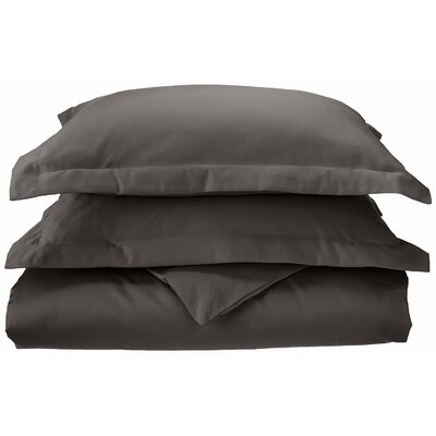3 Piece Reversible Duvet Set Size: Full / Queen, Color: Charcoal
