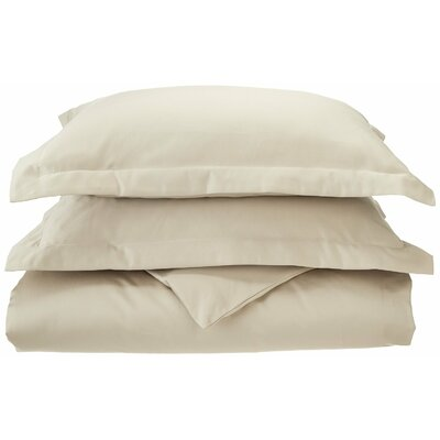 3 Piece Reversible Duvet Set Color: Ivory, Size: King / California King