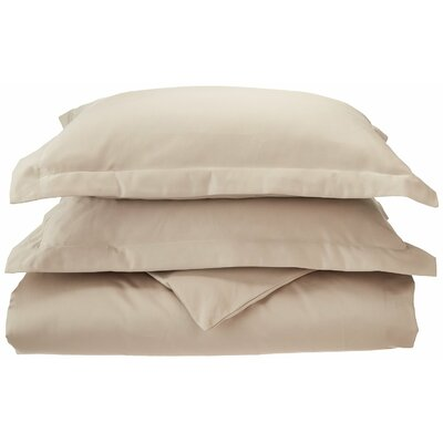 3 Piece Reversible Duvet Set Color: Tan, Size: King / California King