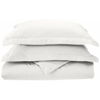 3 Piece Reversible Duvet Set Size: Full / Queen, Color: White