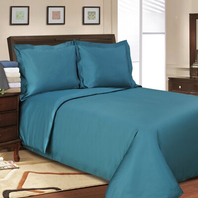 3 Piece Reversible Duvet Set Color: Teal, Size: King / California King