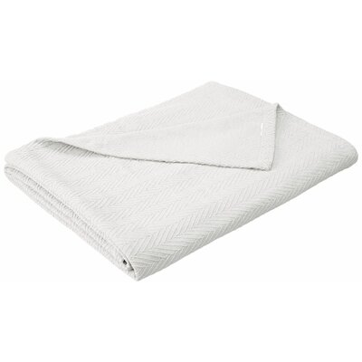Francisco Metro Weave Cotton Blanket Color: White, Size: Twin/Twin Extra Large