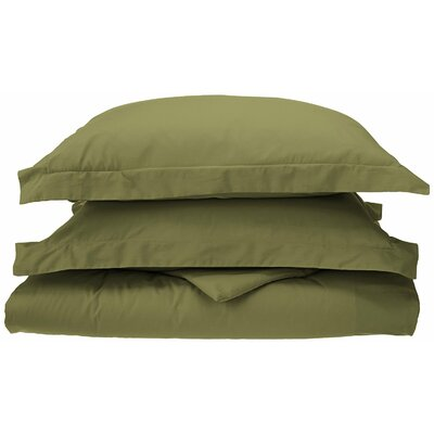 Reversible Duvet Cover Set Color: Sage, Size: Twin