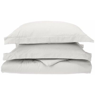 Reversible Duvet Cover Set Color: White, Size: Twin