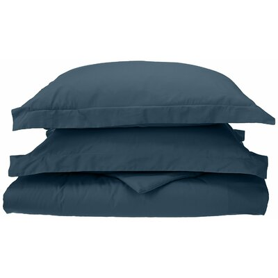 Reversible Duvet Cover Set Color: Navy Blue, Size: King / California King