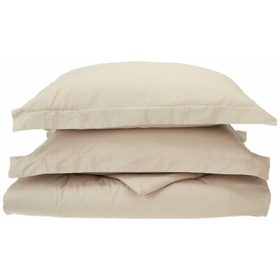Reversible Duvet Cover Set Color: Tan, Size: King / California King