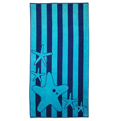 Oversize Jacquard Stripes with Starfish Beach Towel