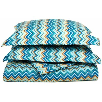 1800 Series Collection Reversible Duvet Cover Set Color: Blue, Size: Twin/Twin XL
