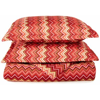 1800 Series Collection Reversible Duvet Cover Set Size: Full/Queen, Color: Red