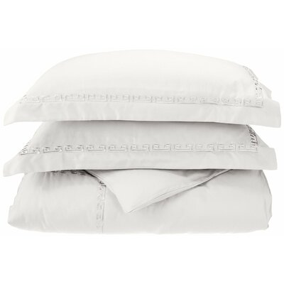 Reversible Duvet Set Color: White, Size: King / California King