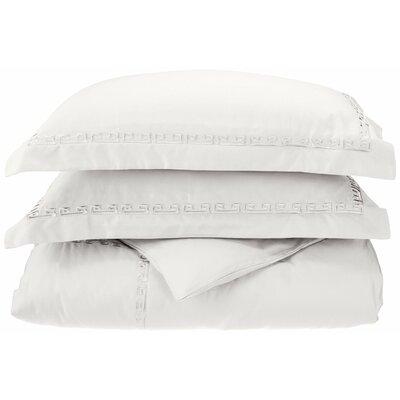 Reversible Duvet Set Color: White, Size: Twin