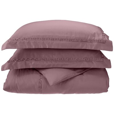 Reversible Duvet Set Color: Lavender, Size: Twin