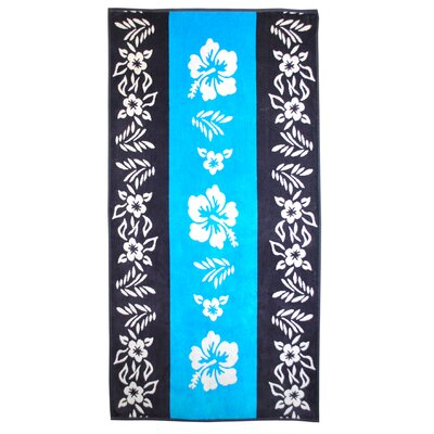 Oversize Jacquard Cotton Floral Beach Towel