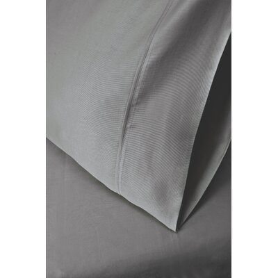 Cotton Rich 1200 Thread Count Pillow Case Color: Gray, Size: Standard