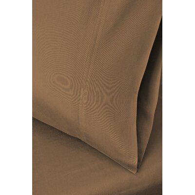 Cotton Rich 1200 Thread Count Pillow Case Size: King, Color: Taupe
