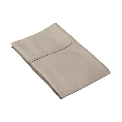 Ginther Cotton Blend 600 Thread Count Solid Pillowcase Size: King, Color: Grey