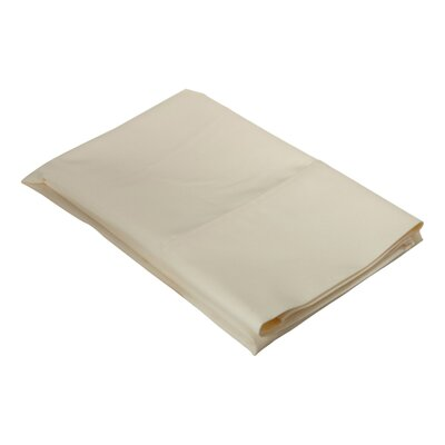 Ginther Cotton Blend 600 Thread Count Solid Pillowcase Size: King, Color: Ivory