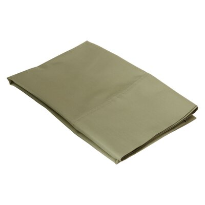 Ginther Cotton Blend 600 Thread Count Solid Pillowcase Size: King, Color: Sage